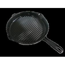Litinová grilovací pánev kulatá průměr 30 cm