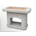 Stolek boční betonový  ATLAS bílý